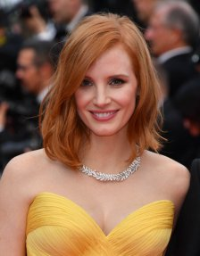 "CANNES, FRANCE - MAY 11: Jessica Chastain attends the screening of ""Cafe Society"" at the opening gala of the annual 69th Cannes Film Festival at Palais des Festivals on May 11, 2016 in Cannes, France. (Photo by George Pimentel/WireImage)"